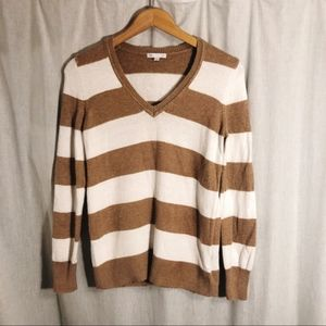 GAP Luxe Angora Blend Striped Sweater